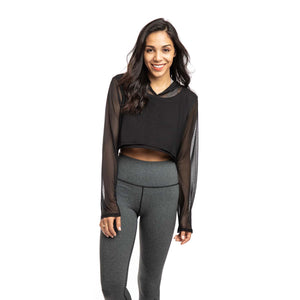 Long Sleeve Crop With Hood