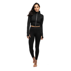 Zip-Up Crop Active Jacket