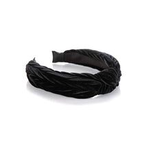 Load image into Gallery viewer, Black Velvet Knot Headband