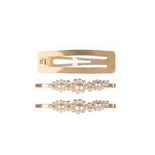 Load image into Gallery viewer, Lustrous Love 3-Piece Hair Clip Set