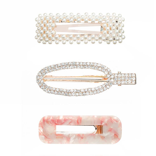 Charming Hair Clips and Barrette Trio