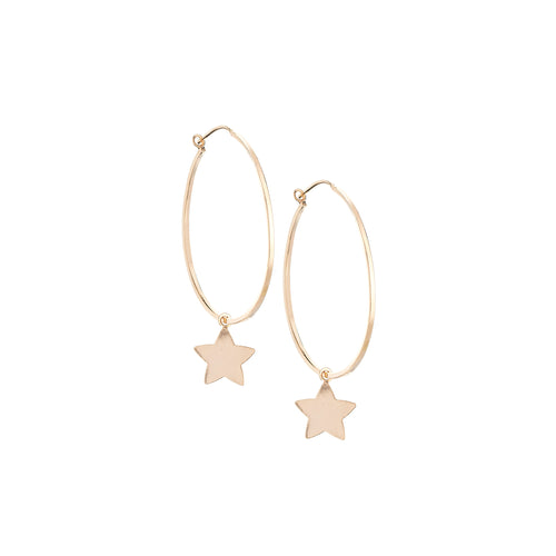 Wish Upon These Stars Hoop Earrings