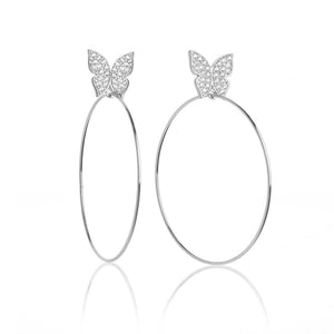 "Butterfly Signature 2"" Earrings"