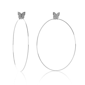 "Butterfly Signature 4"" Earrings"