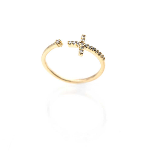 Shining Devotion Cross Ring