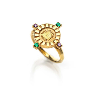 Radiant Sun Signet Ring
