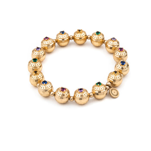 Elliptical Signet Gemstone Bracelet