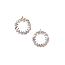 Load image into Gallery viewer, Circle Earrings Gold