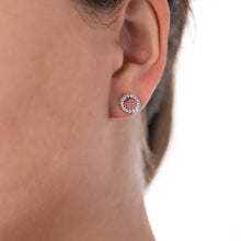 Load image into Gallery viewer, Circle Earrings White Gold