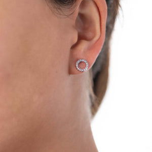 Circle Earrings White Gold