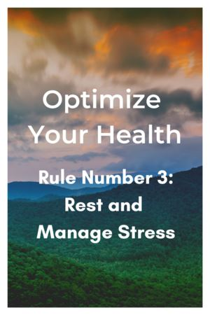 Optimum Health - Rule Number 3