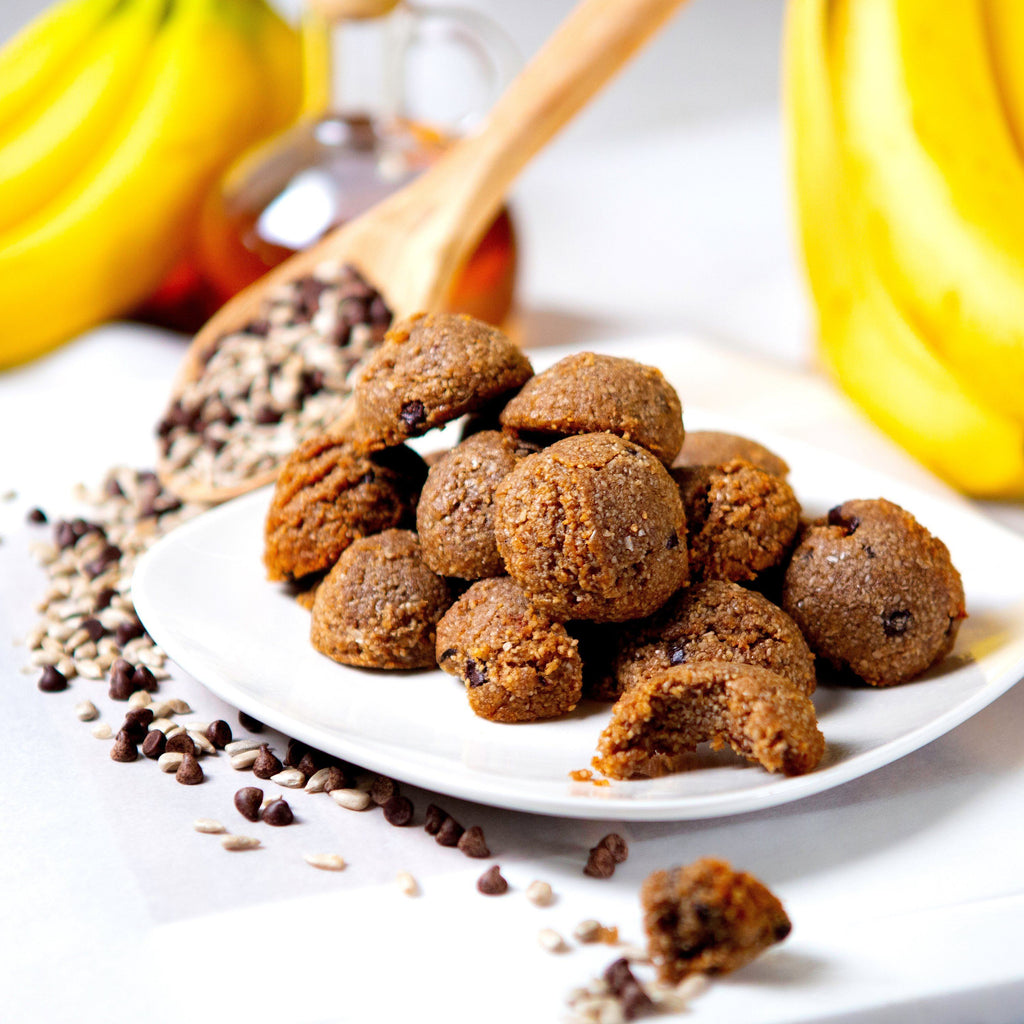 ChipMonk Bites Keto Sugar-free gluten-free low-carb ChipMonk Baking 1 Pouch (8 Bites) Banana Chocolate Chip