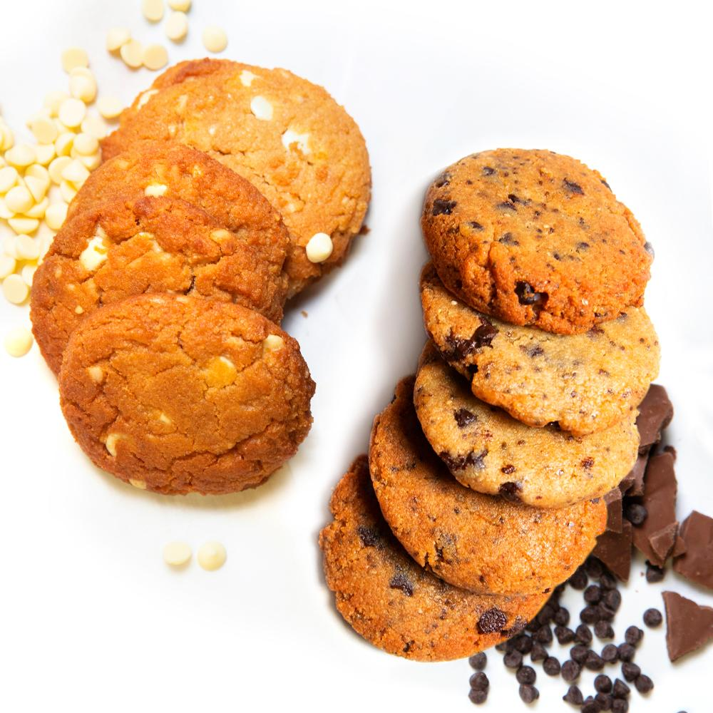Chocolate Lovers Cookie Bundle Keto Sugar-free gluten-free low-carb Chocolate ChipMonk & White Chocolate Macadamia