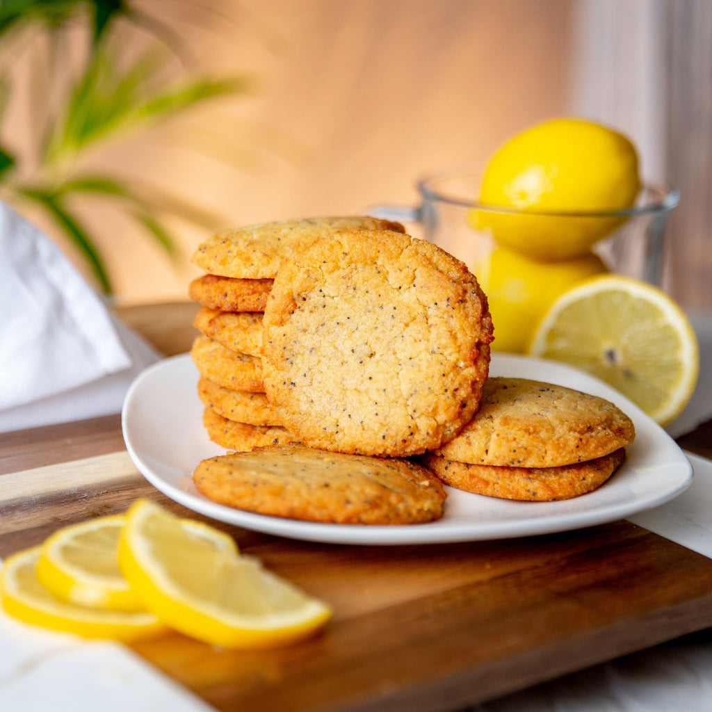 Lemon Poppyseed Keto Sugar-free gluten-free low-carb Box of 6 to 18 Cookies