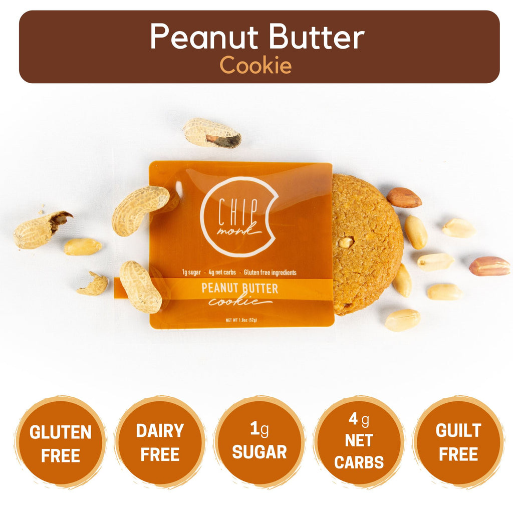 Peanut Butter Keto Sugar-free gluten-free low-carb Box of 6 to 18 Cookies