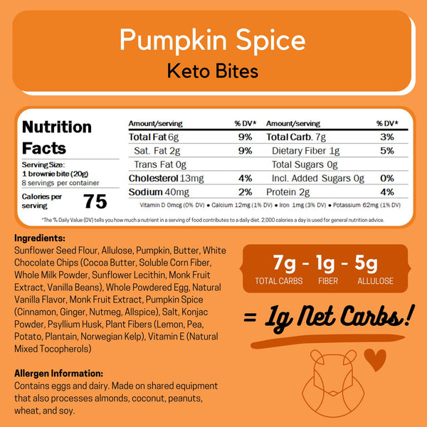 Pumpkin Spice Keto Sugar-free gluten-free low-carb ChipMonk