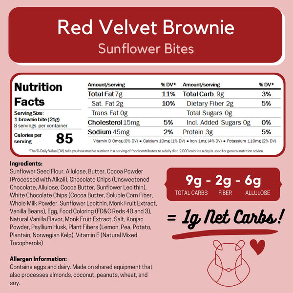 Red Velvet Brownie Keto Sugar-free gluten-free low-carb ChipMonk