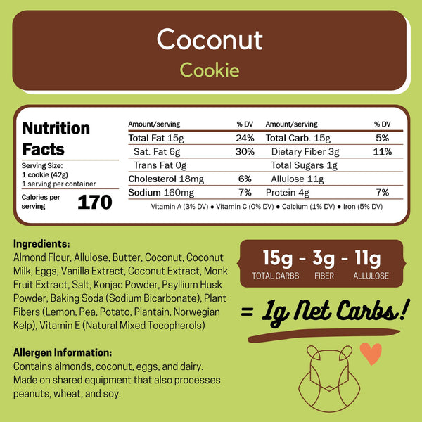 Tropical Cookie Bundle Keto Sugar-free gluten-free low-carb Lemon & Coconut