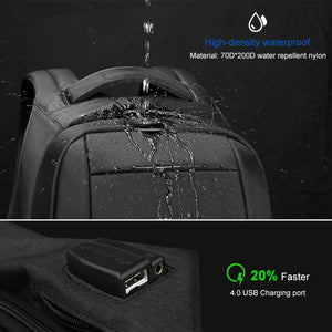 Mochila Anti-Furto Multi-Uso Para Laptop com Carregador USB