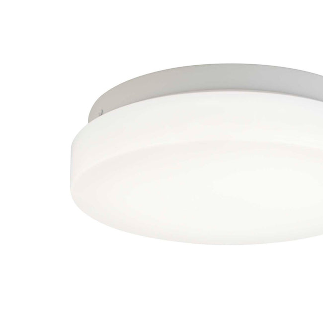 technology-LED Flush Mount Ceiling Light With Frosted White Shade - 7