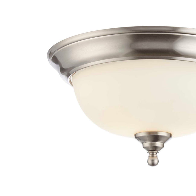 technology-Flush Mount Ceiling Light  With Frosted Glass Shade - 13