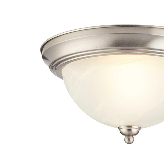 technology-Flush Mount Ceiling Light With White Alabaster Shade - 12