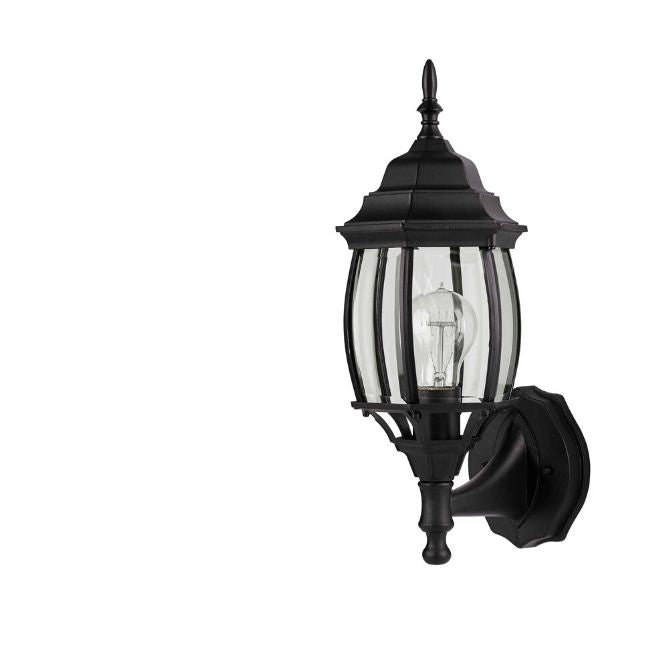 technology-Nobela Outdoor Wall Lantern / Sconce Waterproof Up-Facing Light - Black
