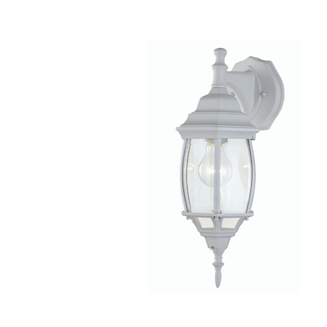 technology-Nobela Outdoor Wall Lantern / Sconce Waterproof Down-Facing Light- White