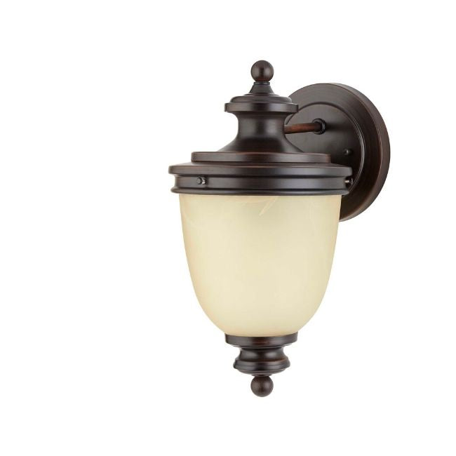 technology-Oyster Outdoor Wall Lantern / Sconce Waterproof Down-Facing Light - Antique Bronze