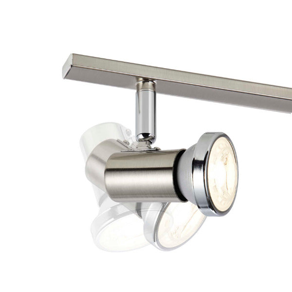 technology-Protino Track Lighting Kit Adjustable Ceiling Fixture - 6-Light - Matte Nickel & Chrome