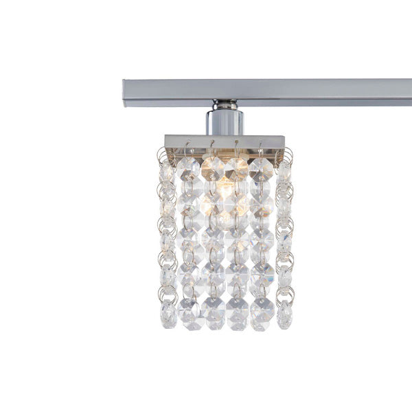 technology-Cora Track Lighting Kit Fixed Crystal Ceiling Fixture - 4-Light - Chrome