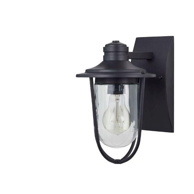 technology-Wellesley Outdoor Wall Lantern / Sconce Down-Facing Waterproof Light - Black