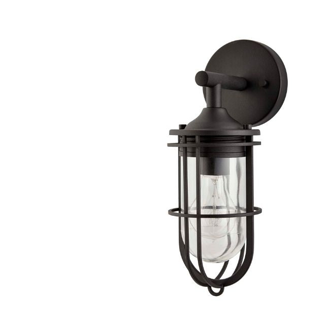 technology-Dupont Outdoor Wall Lantern / Sconce Down-Facing Waterproof Light - Black
