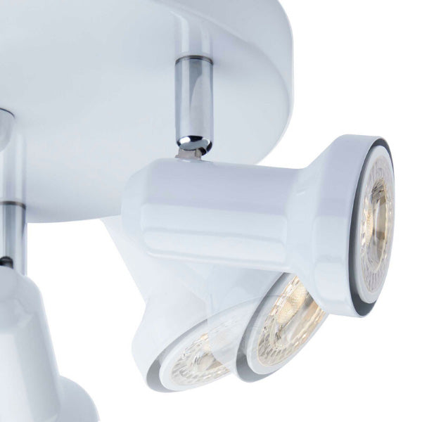 technology-Summerhill Track Lighting Kit Adjustable Semi-Flush-Mount Ceiling Fixture - 3-Light - White