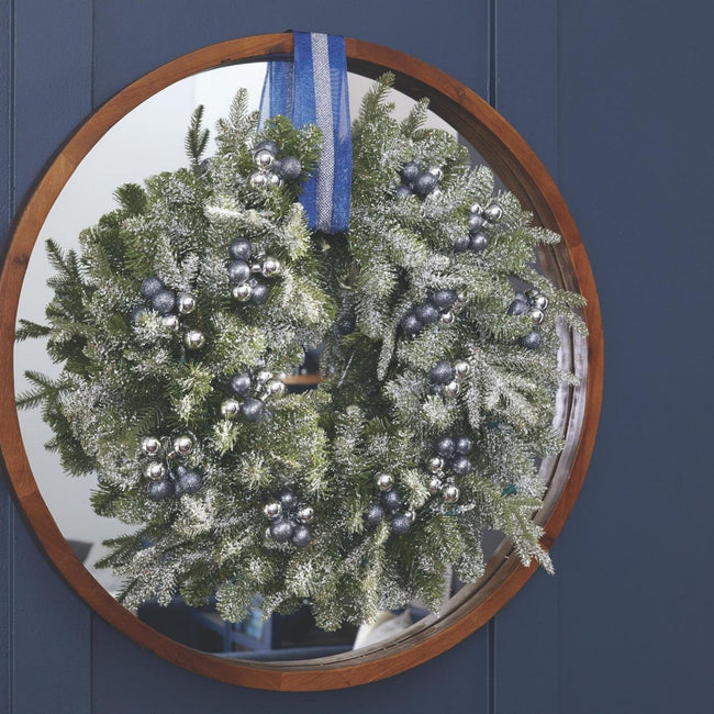 technology-Wreath Christmas Frosted Fir - 24 inches - 25 LED Bulbs