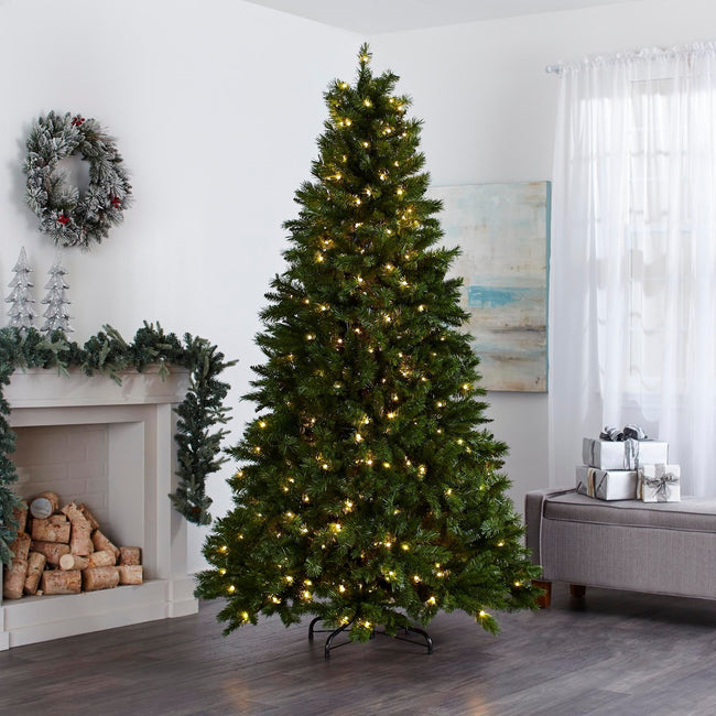 technology-Collins Pine 7.5-Ft Christmas Tree - 300 Warm White LED Lights
