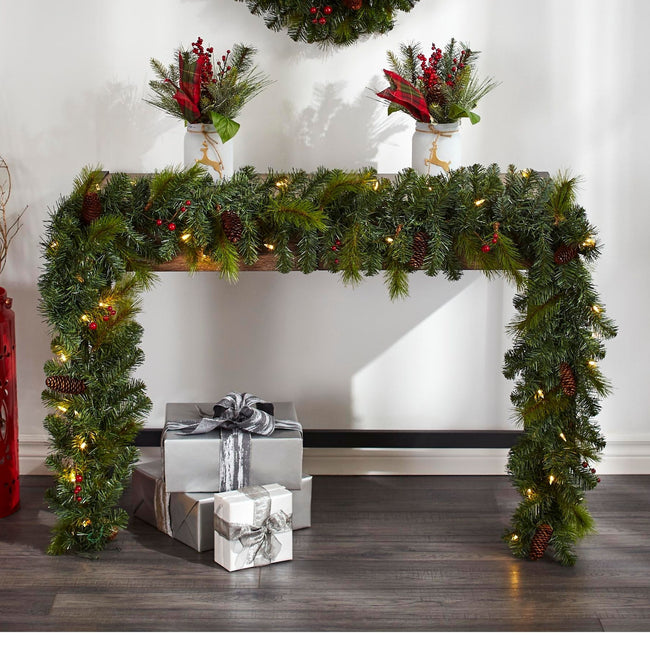 technology-Carolina Pine 9-Ft Pre-Lit Christmas Garland