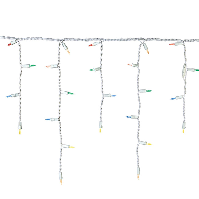 technology-Mini Icicle Christmas String Light - 70-Count - Multicolor