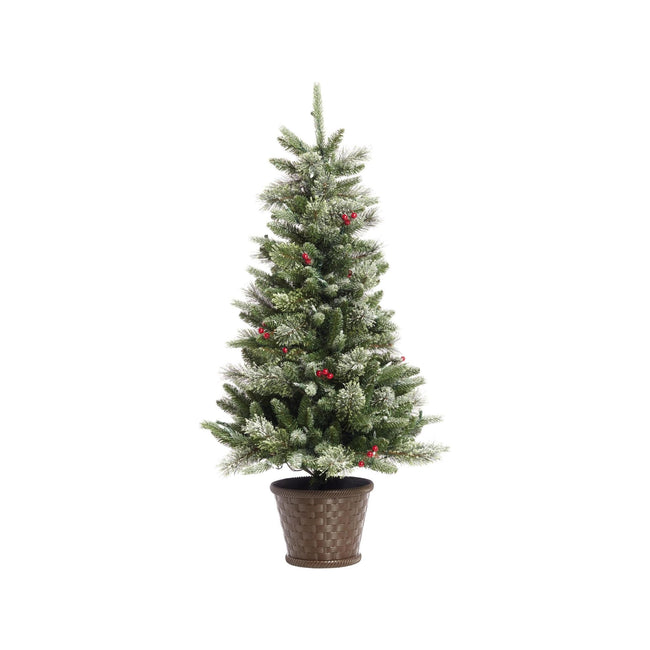 technology-Potted Christmas Tree Jackson Potted - 4ft - 80 Warm White LED Bulbs