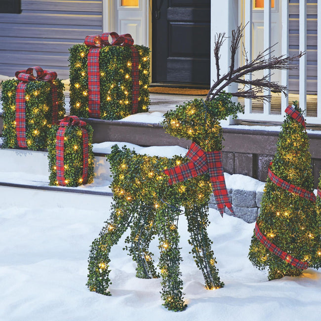 technology-Winter Garden Deer Pre-Lit LED Christmas Lawn Décor