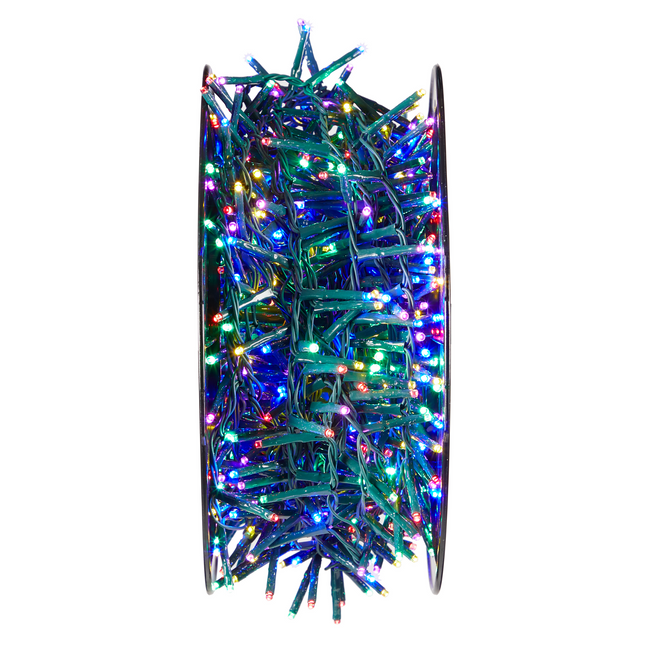 technology-Advanced LED Cluster String Lights with Lightshow Effects -1000-Count - Multicolor