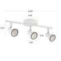 "Summerhill Track Lighting Kit Adjustable Ceiling Fixture - 3-Light - White with dimensions of 15"" x 5.70"""