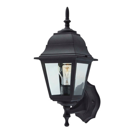 Coach Outdoor Wall Lantern / Sconce Reversible Waterproof Light - Black displayed on a white background.