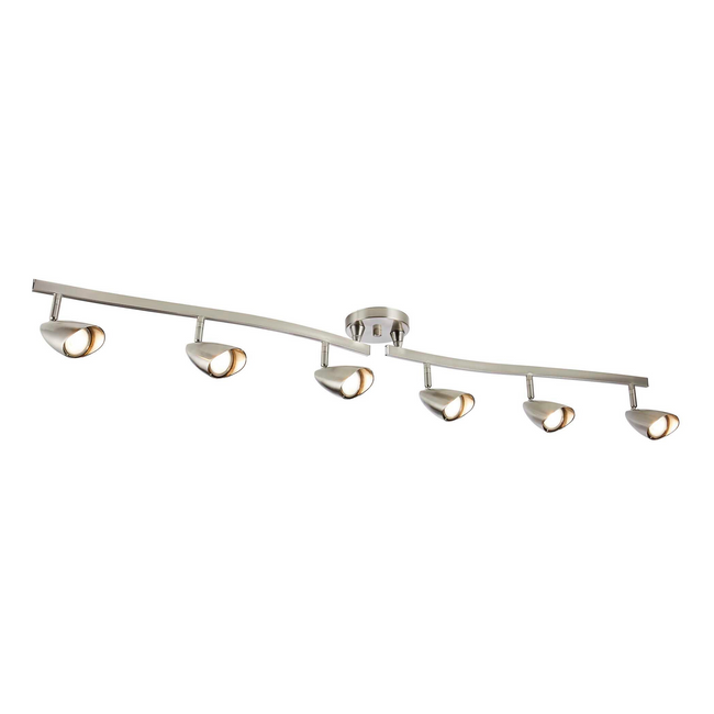 Osgoode Track Lighting Kit Adjustable / Foldable Ceiling Fixture - 6-Light - Chrome