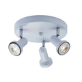 Summerhill Track Lighting Kit Adjustable Semi-Flush-Mount Ceiling Fixture - 3-Light - White
