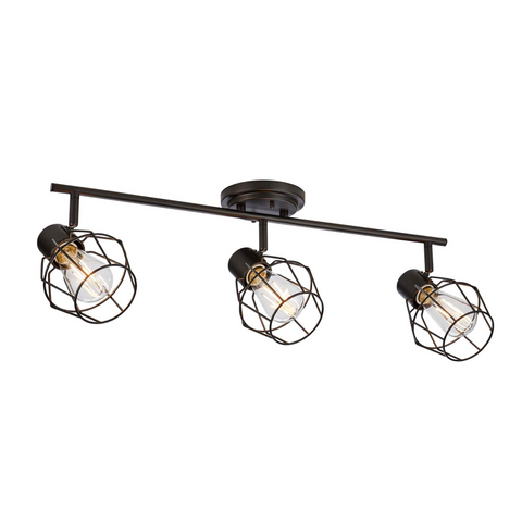 Keele Track Lighting Kit LED Adjustable Ceiling Fixture - 3-Light - Oil Rubbed Bronze placed on a white background