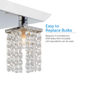 Cora semi-flush-mount chrome track light illuminated – showcasing easy to replace light bulb