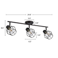"Keele Track Lighting Kit Adjustable Ceiling Fixture - 3-Light - Oil Rubbed Bronze with dimensions of 24.6"" x 8.6"""