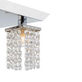 Cora semi-flush-mount crystal ceiling fixture bulb close up