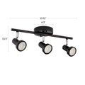 "Black Bay track light 3-light dimensions – 15.11"" X 13.5"""